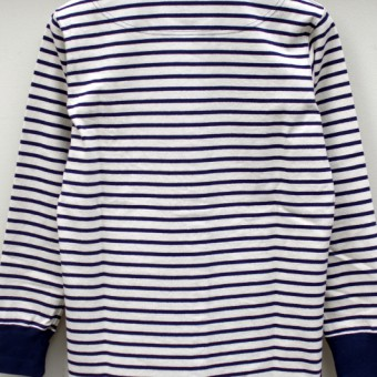 MARINE BORDER KNITTED SHIRT