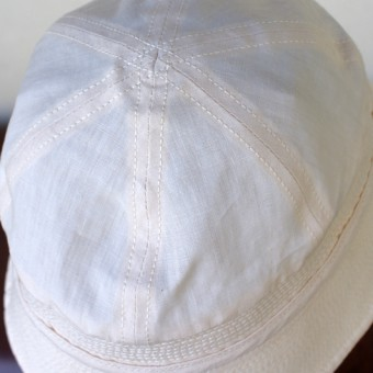 HIGH COUNT LINEN MARINE HAT