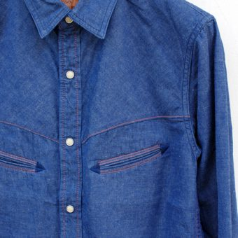 TUCK OUT WESTERN SHIRTS [DENIM]