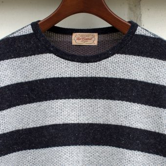 BORDER THERMAL KNIT-SEWN