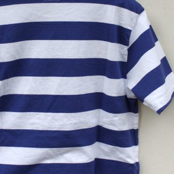 SHORT SLEEVE BORDER POCKET T-SHIRTS