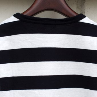 4/5 SLEEVE BORDER POCKET T-SHIRTS