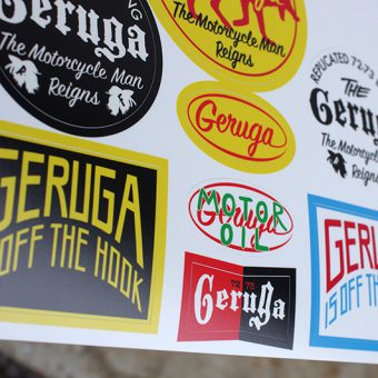 GERUGA - CUSTOM STICKER -2018-