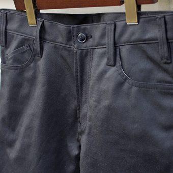 OILED COTTON 5 POCKET PANTS