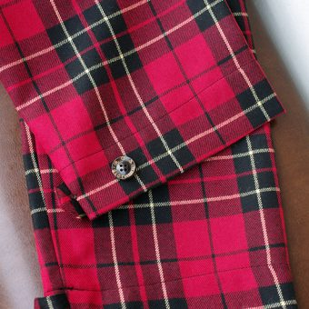 TARTAN CHECK EASY PANTS