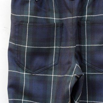 TARTAN CHECK EASY PANTS