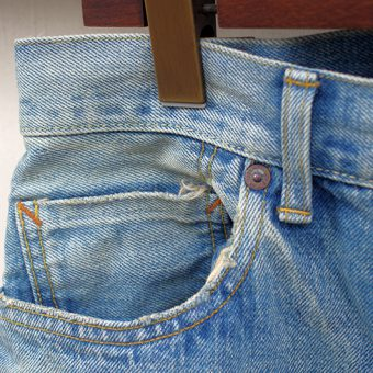NARROW STRAIGHT JEANS -VINTAGE WASH-