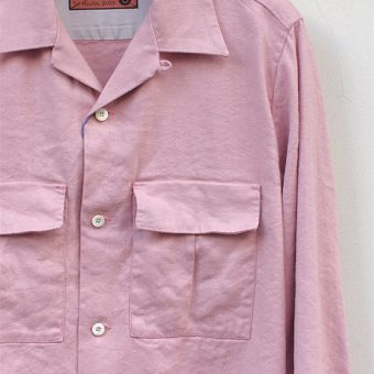 OPEN COLLAR SHIRTS -SILK/LINEN-