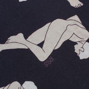 MALE/FEMALE PATTERN BAND COLLAR SHIRT [LADY'S]