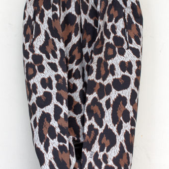LEOPARD/550g MELTON WIDE PANTS