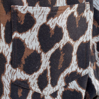 LEOPARD/550g MELTON PANTS