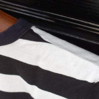 SHORT SLEEVE BORDER POCKET T-SHIRTS