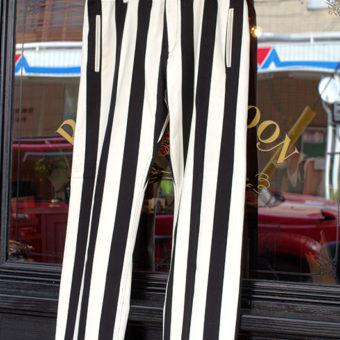 11号帆布 STRIPE STRAIGHT PANTS