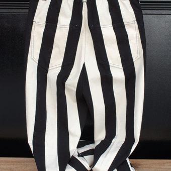 11号帆布 STRIPE LOOSE PANTS
